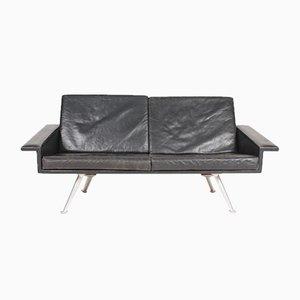 Dänisches Mid-Century Sofa aus patiniertem Leder, 1960er