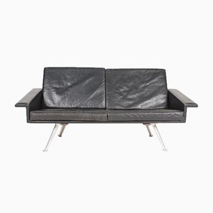 Mid-Century Danish Patinated Leather Sofa, 1960s