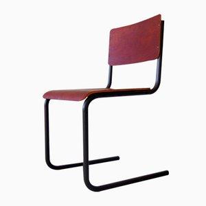 Industrieller Schreibtischstuhl aus Schichtholz & Metall, 1950er