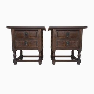 Vintage Spanish Nightstands, 1920s, Set of 2