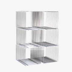 Cubos vintage de alambre de Verner Panton para Fritz Hansen. Juego de 6