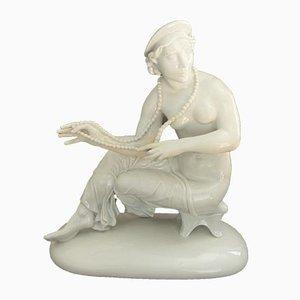 Sitzende Figur Skulptur von Mauritius Pfeiffer für Schwarzburger Werkstätten, 1920er