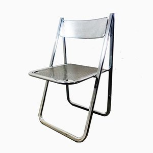 Vintage Italian Chrome Folding Chair from Arrben