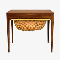 Mid-Century Sewing Table by Severin Hansen for Haslev Møbelsnedkeri