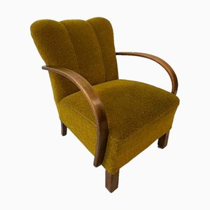 Mid-Century Olive Armchairs by Thonet, 1960s, Set of 2