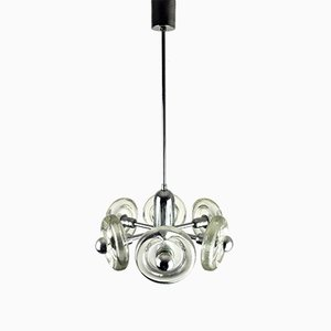 Sputnik Glass Ceiling Lamp, 1940s