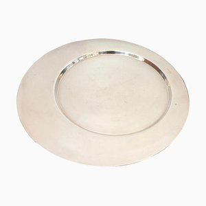Silver Plated Round Tray by Gio Ponti for Cleto Munari, 1970s