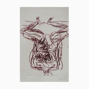 Vintage Nr. 8 Farbradierung von Georg Baselitz