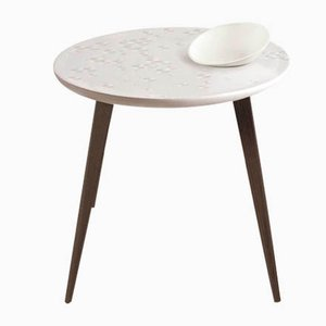 Wenge Frost Moment Table with Bowl from Lladró