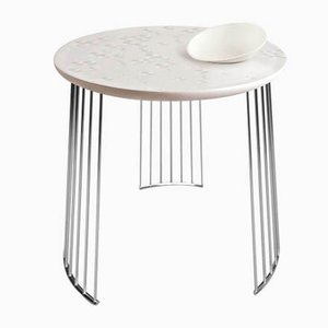 Chrome Metal Frost Moment Table with Bowl from Lladró
