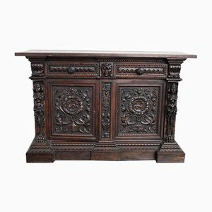 Antique Renaissance Style Carved Sideboard