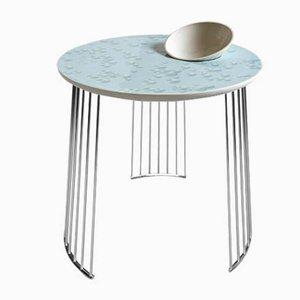 Mesa de cristal con el cuenco de Lladró