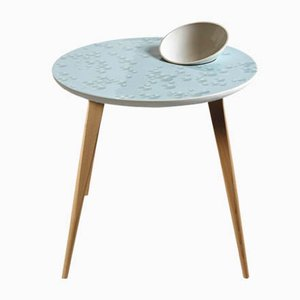 Oak & Crystal Moment Table with Bowl from Lladró