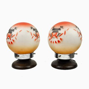 Table Lamps by Schott for Jenaer Glas, 1930s, Set of 2