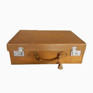 Englischer Koffer aus Kunstleder mit Schlüssel, 1960er