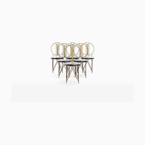 Dining Chairs by Frank Lloyd Wright for Cassina, 1970s, Set of 6
