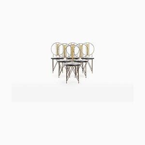 Sedie da pranzo di Frank Lloyd Wright per Cassina, anni '70, set di 6