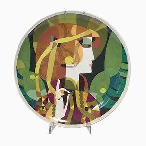 Triptych Dish by Gianmaria Ciferri for Edizioni d'Arte Della Galleria Ventitre, 1970s