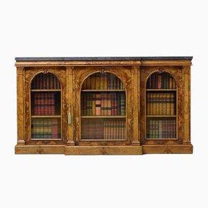 Victorian Walnut Glazed Cabinet