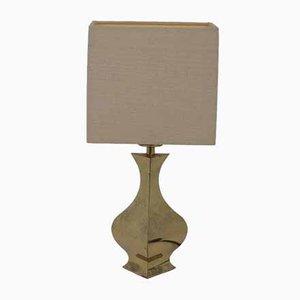 Lámpara de mesa francesa pequeña de latón, años 70