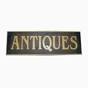 Vintage Antiques Werbeschild, 1970er