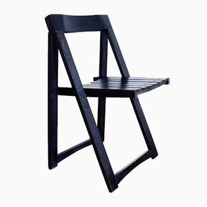 Black Folding Chair by Aldo Jacober, 1970s