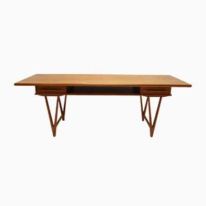 Mid-Century Danish Teak Coffee Table by E. W. Bach for Toften Mobelfabrik