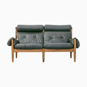 Green Leather Sofa from Profilia Werke, 1960s