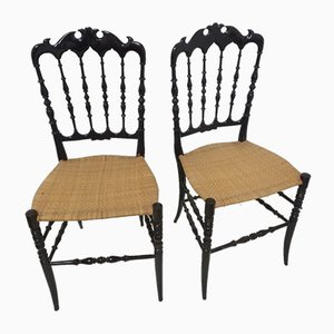 Mid-Century Chiavari Dining Chairs by Colombo Sanguineti, Set of 2
