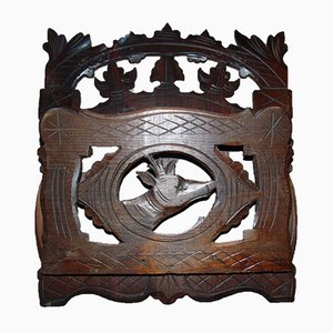 Art Nouveau Carved Magazine Rack