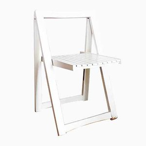 White Folding Chair by Aldo Jacober, 1970s