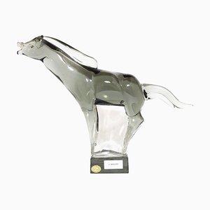 Vintage Pferdeskulptur von Livio Seguso für Made Murano Glas