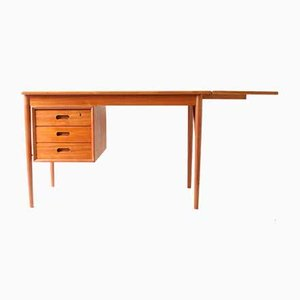 Mid-Century Danish Drop Leaf Desk by Erik Buch for Oddense Maskinsnedkeri / O.D. Møbler