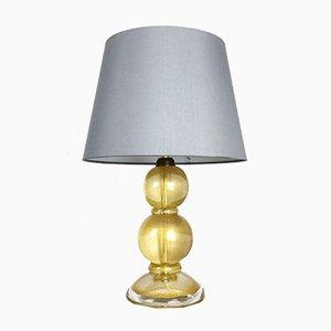 Lampe de Bureau Mid-Century en Verre de Murano Doré de Cenedese Vetri Murano