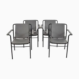 Folding Desk Chairs from Poltrona Frau, 1980s, Set of 4