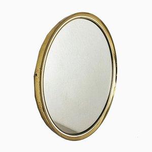 Mid-Century German Modernist Brass Mirror from Vereinigte Werkstätten München