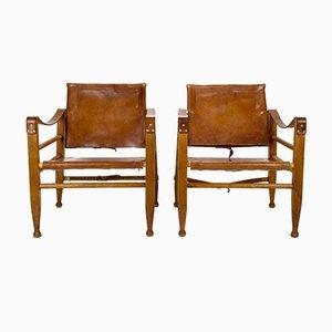 Safari Armlehnstühle von Aage Bruun für Aage Bruun & Søn, 1960er, 2er Set