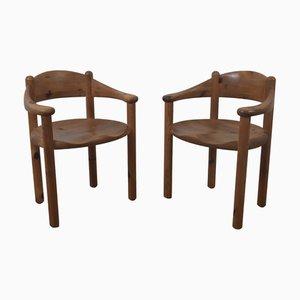 Vintage Esszimmerstühle von Rainer Daumiller, 2er Set