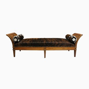 Banc Biedermeier Antique en Noyer
