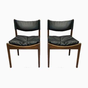 Skandinavische Mid-Century Esszimmerstühle, 1960er, 4er Set