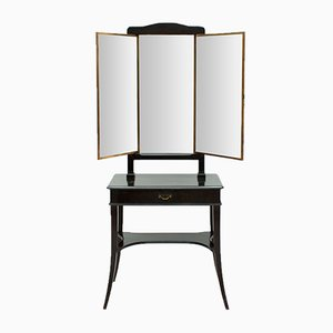 Antique French Ebonised Dressing Table from Brot, 1900s