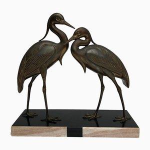 Mid-Century Crane Birds by Irénée Rochard