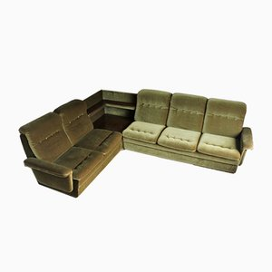 Large Vintage Green Modular Sofa, 1960s