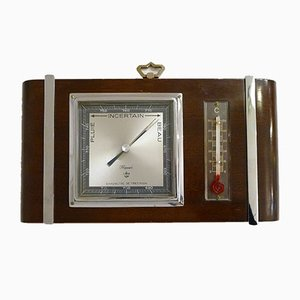Mid-Century Barometer & Thermometer from Maxant
