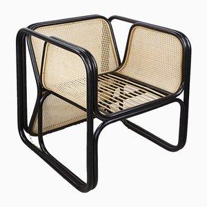 Armlehnstuhl aus Rattan
