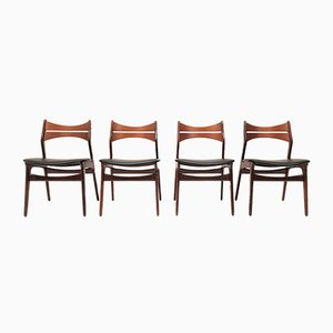Model 310 Dining Chairs by Erik Buch for Chr. Christiansen, 1960s, Set of 4