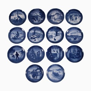 Plates by Royal Copenhagen, 1950s, Set of 14