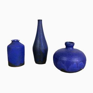 Vases Mid-Century en Céramique par Gerhard Liebenthron, Set de 3