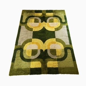 Large Vintage German Modernist High Pile Carpet
