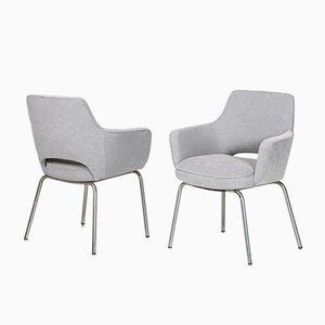 Vintage Gray Armchairs by Olli Mannermaa, Set of 2